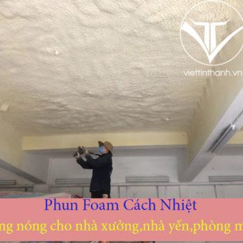 Phun Pu Foam cách nhiệt mái nhà hiệu quả