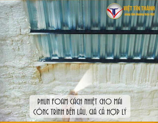 Phun Pu Foam cách nhiệt chống nóng cho mái nhà hiệu quả