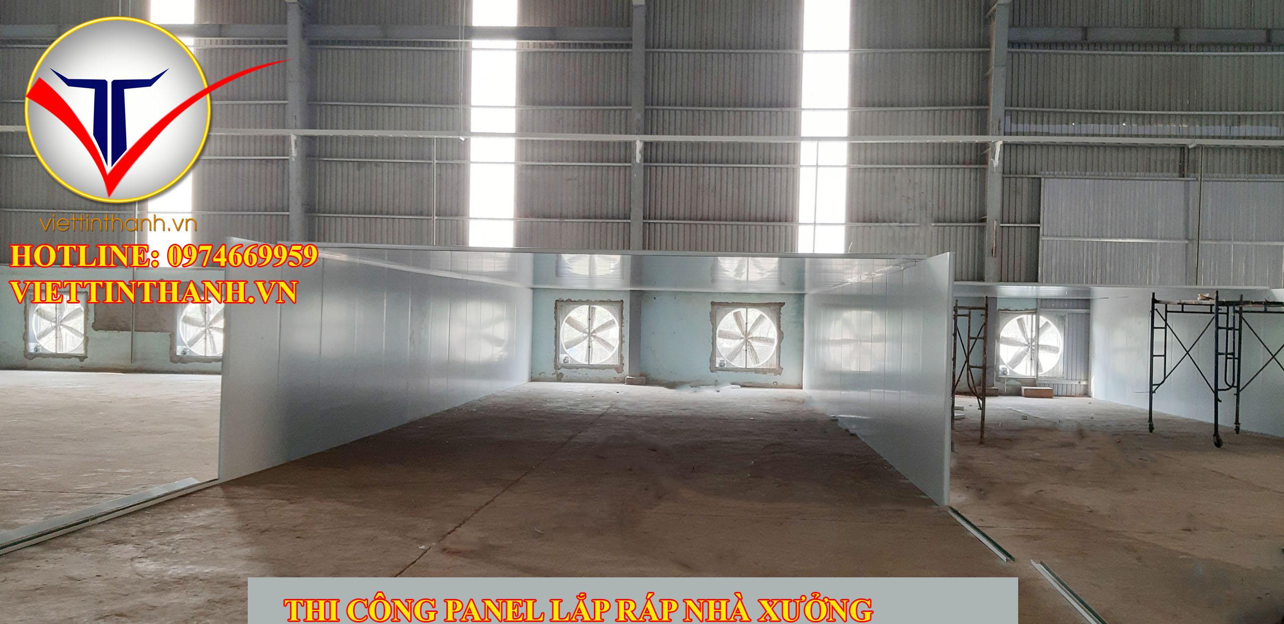 thi công Panel chống nóng cho nhà xưởng, lắp ráp nhà xưởng