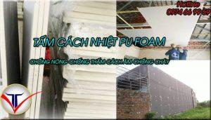 Tấm cách nhiệt Pu Foam chống nóng tường nhà