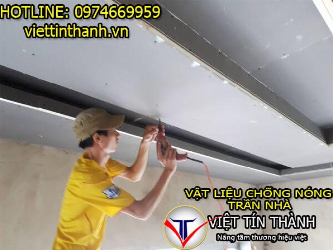 Thi công chống nóng trần nhà bằng vật liệu Pu Foam