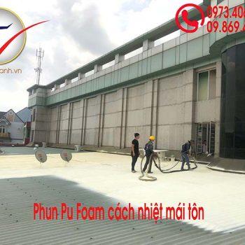 phun pu foam cách nhiệt mái tôn nhà xưởng