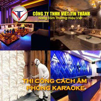 Thi công phun pu foam cách âm phòng karaoke uy tín