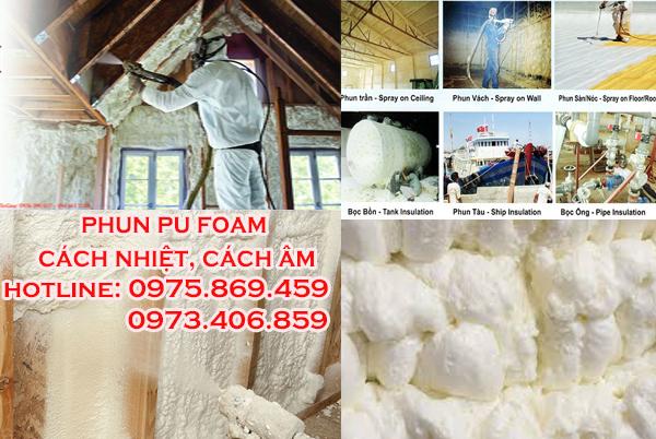 Phun Pu Foam cách nhiệt cách âm