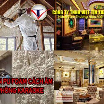 phun Pu Foam cách âm phòng karaoke