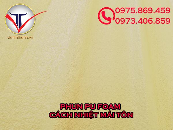 Phun Pu Foam cách nhiệt mái tôn