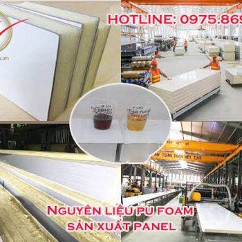 Nguyên liệu Pu Foam sản xuất Panel cách nhiệt