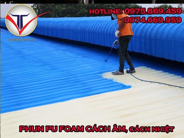 Phun Pu Foam cách nhiệt, cách âm