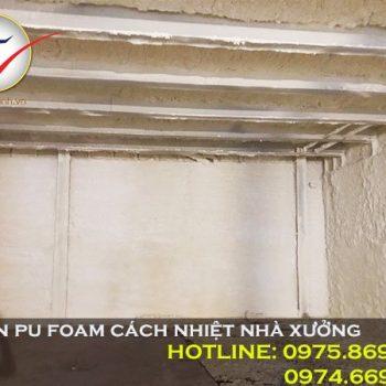 Phun Pu Foam cách nhiệt nhà xưởng