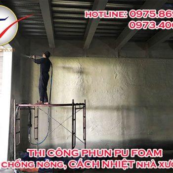 Phun Pu Foam chống nóng nhà xưởng