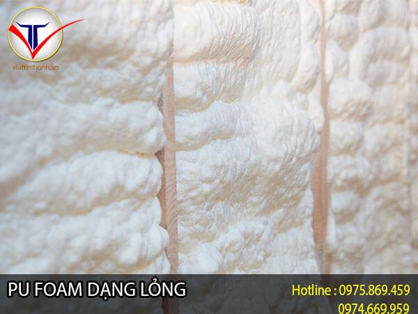 Pu Foam dạng lỏng sau khi phun